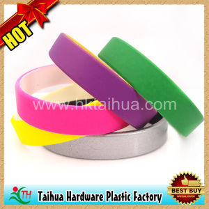 Spray Paint Color Silicone Bracelet (TH-08313) pictures & photos