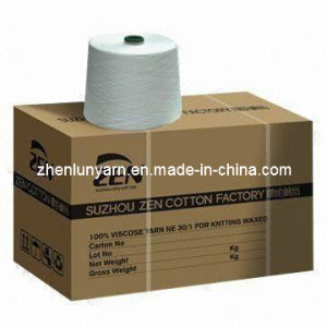 100% Siro Viscose Yarn Ne34/1* pictures & photos