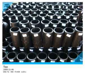 Black Steel CS Pipe Fittings Straight Tee pictures & photos