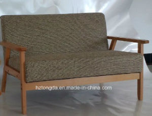 Upholstered Wooden Sofa