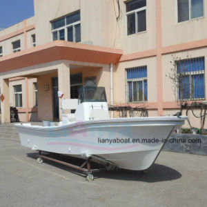 Liya 5.8m Center Console Fishing Boat FRP Fishing Boat Work Panga Boat pictures & photos