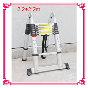 4.4m Double Retractable Aluminum Ladder pictures & photos
