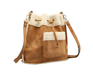 Winter Season Women Bag Patchwork Bucket Handbag pictures & photos
