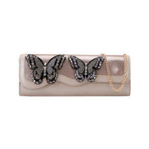 Crystal Butterfly Decorated Long Clutch Bag (MBNO041160) pictures & photos