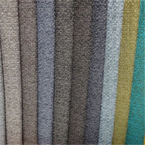Polyester Linen Upholstery Fabric