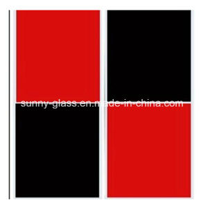 Red Black Painted Glass 4mm-12mm pictures & photos