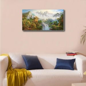 The Mountain Waterfalls on Decorative Painting pictures & photos