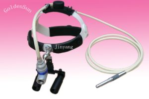 Surgical Headlight Loupes 5X Microsurgery Frontal Light Loupe Fiber Optic Cable Headlight pictures & photos