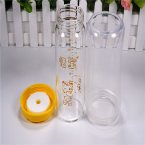 260ml Crystal Diamond Baby Glass Bottle with Break-Resistant Sleeve pictures & photos