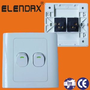 86 Style Flush Mounted 2 Gang 1 Way Switch Light Switch Wall Switch (F1102) pictures & photos