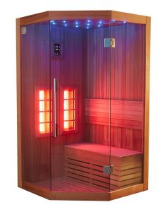 New and Fashion Romantic Colorful LED Light Leisure Luxury Far Infrared Sauna Room I-011 pictures & photos