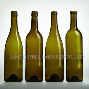 0.75LTR Bvs Closure Glass Wine Bottle Bordeaux Bottle pictures & photos