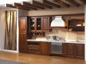 High Quality Solid Wood Kitchen Cabinet (KC13401)