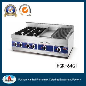4 Burners Gas Range Gas Griddle (HGR-64GL) pictures & photos