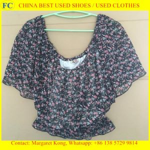 Origin Summer Used Clothes Second Hand/Ladies Silk Blouses pictures & photos