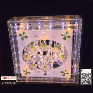 Glass Crystal Square Ceiling Lamp with MP3 (YF8924/s6)