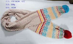Women′s Lovely Warm Knit Scarf (FB-90524) pictures & photos