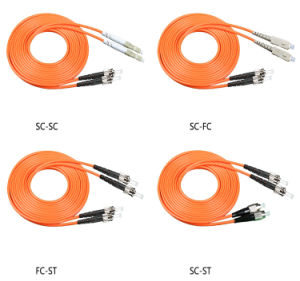 Multimode Fiber Patch Cord Duplex FC-FC Connector 3meter pictures & photos