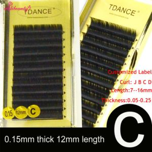 Individual Eyelashes Extension Wholesale Fasle Lash Silk Mink Lashes Customized Label pictures & photos