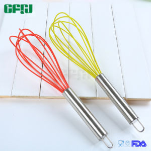 Protect Cookware Kitchen Utensils Non-Scratching Silicone Wired Whisk pictures & photos