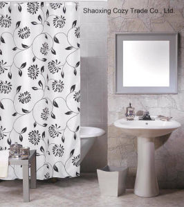 Fashion Printing Style of 100%Polyester Shower Curtain pictures & photos