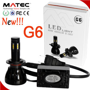 New Auto Headlight Kit LED 12V 24V 96W 9600lm LED Headlamp 4 Sides Chip LED Headlight G6 G1 pictures & photos