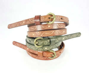 Printed Lady Fashion Belt of Top Grain Leather (EUBL0787-12) pictures & photos