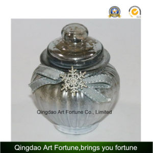 Mercury Glass Jar Container with Lid for Home Decoration Supplier pictures & photos
