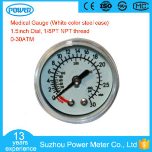 White Steel Case 40mm 30ATM and Psi Scale Medical Gauge pictures & photos