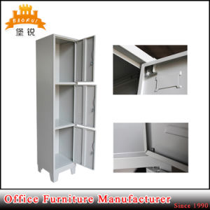 Knock Down Structure 3 Three Door Steel Furniture Metal Clothes Cabinet Lockers pictures & photos