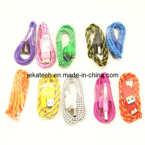 for Samsung Galaxy S5 Nylon Fabric Braided USB Cable pictures & photos