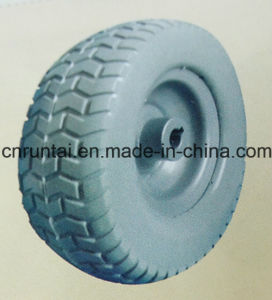 "9 Inch 9""X3.4"" Flat Free Rubber PU Foam Wheel pictures & photos"