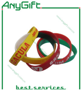 Silicon Wristband with Customized Shape and Logo (LAG-WB-07) pictures & photos