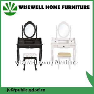 Black Vanity Dressing Table with Mirror (W-LZ-134) pictures & photos