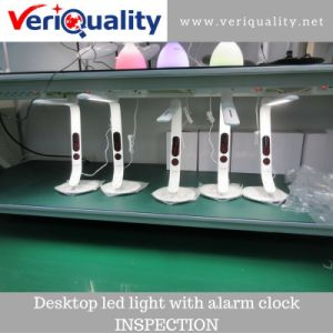 Desktop LED Light with Alarm Clock Quality Control Inspection Service in Shenzhen pictures & photos