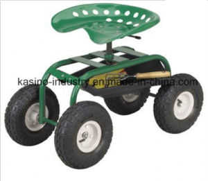 High Quality Rolling Garden Work Seat Cart pictures & photos