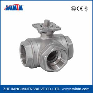 High Platform Three-Way Ball Valve-Thread Ends pictures & photos