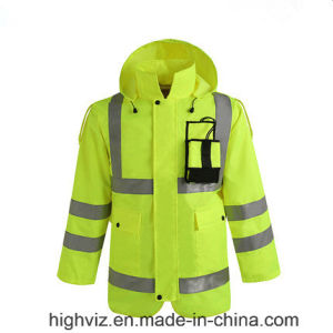 High Quality Reflective Rain Jacket with ANSI107 (C2443) pictures & photos