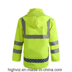 Reflective Safety Rain Jacket with ANSI107 Certificate (C2443) pictures & photos