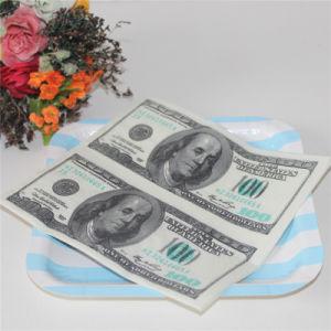 Us Dollar Design Paper Napkin Home Decoration pictures & photos