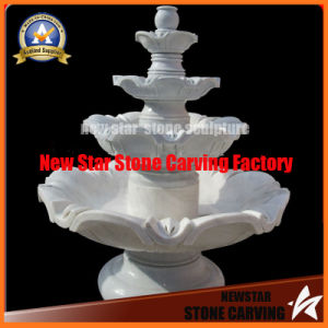 Marble Sculpture Classic 4 Tire Fountain for Garden Decoration pictures & photos
