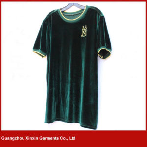 Custom Design Fashion Cheap Price High Quality Velour T Shirt Clothing (R169) pictures & photos
