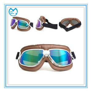 PC Mirrored No Myopia Motocross Accessories Safety Goggles pictures & photos