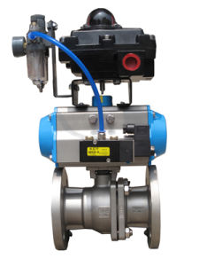 Whole Set Flange Type Ball Valve with Limit Switch Box, Frl, Solenoid Valve pictures & photos