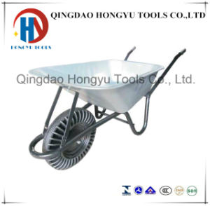 Zinc Plated Wheel Barrow with Solid Wheel Wb6414s pictures & photos