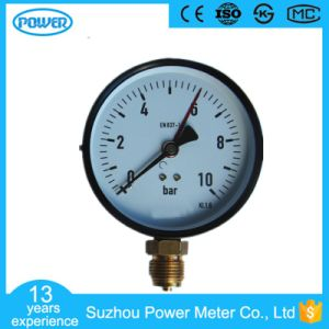 100mm 4′′ Black Steel Case Manometer with Two Pointer pictures & photos