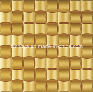3D Wall Decorative Panel with Golden Yellow Ancient Weaving Stone pictures & photos