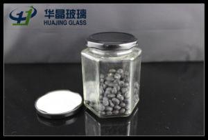 295ml Hexagonal Glass Mason Jam Jar with Sealed Metal Lid