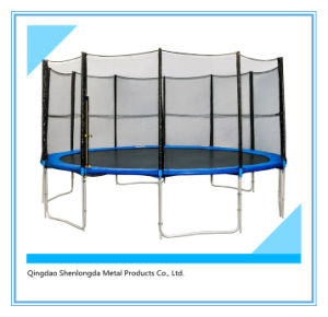 15FT Round Half Pole Trampoline with Inner Safety Enclosure11 pictures & photos