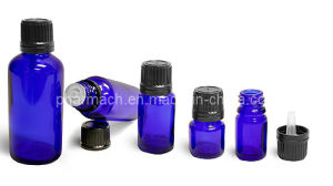 Cobalt Blue Glass Bottles for Essential Oil with Tamer Evident Cap (5ml, 10ml, 15ml, 20ml, 30ml, 50ml) pictures & photos